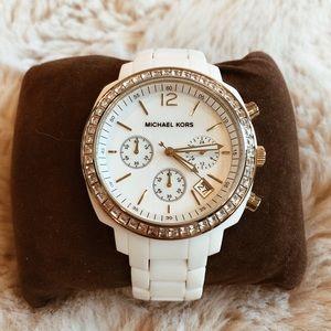 Michael Kors 5187 White Gold Glitz Watch